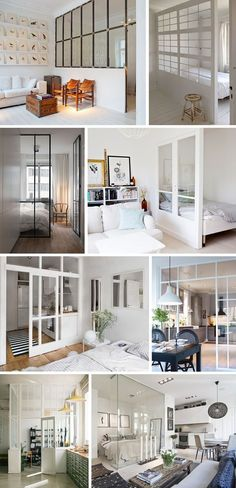 Window walls for small apartments - Christina Dueholm Small Apartments, Small Spaces, Window Wall, House Rooms, Home Bedroom, Apartment Living, Home Renovation, Home Interior Design, Home And Living