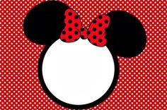 Minnie in Red: Free Printables and Party Invitations.