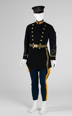 Military uniform  Ridabock & Company   Date: 1906   Culture: American   Medium: wool, leather, silk, metal