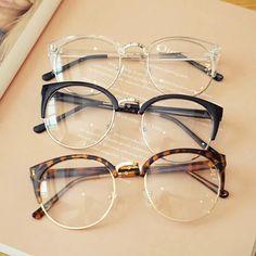 Cheap transparent Spectacle frame Anti-fatigue for cat eyes men's Glasses women Oculos De Grau masculino Retro Vintage eyewear อยาพลาด ซอวนน Mens Clear Frame Glasses, Transparent Glasses Frames, Glasses Frames Trendy, Cool Glasses, New Glasses, Fake Glasses, Half Rim Glasses, Vintage Glasses Frames, Glasses Style