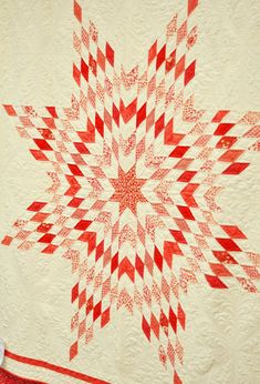 Snowflake and many more red and white quilts