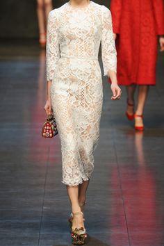 Dolce & Gabbana | Lace and silk-organza midi dress | NET-A-PORTER.COM