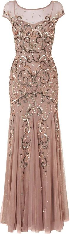 Blush Sequin Gown