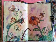 Zentangle watercolor garden.