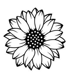 Sunflower Stencil, Sunflower Flower, Cricut Craft Room, Cricut Vinyl, Silhouette Cameo Projects, Silhouette Design, Silhouette Images, Vinyl Crafts, Vinyl Projects