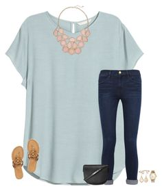 M, frame denim, tory burch, topshop, kate spade and kendra scott. Casual Outfits, Cute Outfits, Fashion Outfits, Womens Fashion, Looks Style, Style Me, Vetements Shoes, Look Con Short, Frame Denim