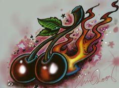 flamin Cherries by chrisxart.deviantart.com on @deviantART