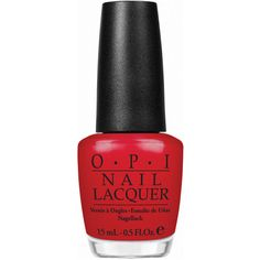 O.P.I Nail Polish in Colour So Hot It Berns 15ml ($19) ❤ liked on Polyvore featuring beauty products, nail care, nail polish, beauty, nails, red, red nail polish, opi nail polish, opi nail varnish and opi nail care