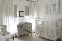 quarto bebe branco 06 Decoração quarto de bebê menina: branco
