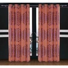 Dolce Mela Areon Window Treatments Damask Drape Curtain Panel