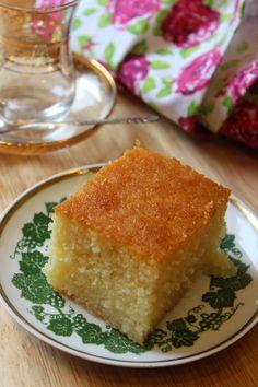 Griesskuchen mit Zitronensirup = Revani (u.a. Joghurt & Öl)