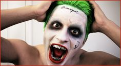 BEST Joker Makeup Tutorial from Suicide Squad - Jared Leto - Halloween vlog