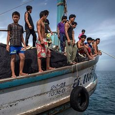 The crew aboard a Thai fishing boat @adamjdean photographed in the Gulf of #Thailand included two dozen Cambodian boys some as young as 15. A labor shortage in the Thai #fishing industry is primarily filled by using #migrants most of them from Cambodia and Myanmar. Men who have fled servitude on boats like this one talk of beatings and worse as nets are cast for catch that will become pet food and livestock feed. @adamjdean spent more than a day aboard this vessel. We wanted to get as close…