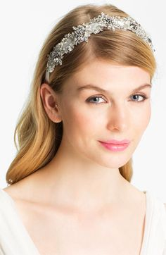 Halo & Co. 'My Fairy Lady' Crystal Ribbon Headband available at #Nordstromweddings    WOW that's beautiful