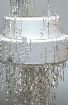 Ron Ben-Israel's Jewel of a Wedding Cake;4,100 Swarovski crystals;serves 485 guests; retail cost: $32,000