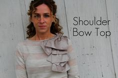 DIY Shoulder Bow Top