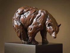 black bear head study | yellowstone bear study bronze 11 x 7 x 10