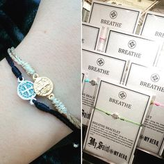 """Cotton Island on Instagram: """"Each of our new @MySaintMyHero #BreatheBracelets are beautiful and meaningful pieces. Perfect for you or to share with someone you love!   #breathe #cottonislandboutique // $12 //"""""""