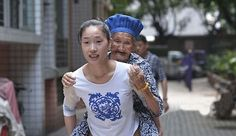 Woman Carries Elderly Grandmother On Her Back To Work Every Day To Take Care Of Her (Photos)