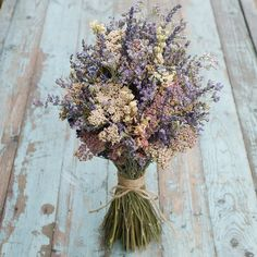 Midnight Haze Dried Flower Bouquet - Our rustic, Bridal Bouquets are a great alternative to create a wild and bohemian look to your day. Bouquet Bride, Flower Bouquet Wedding, Bridesmaid Bouquet, Dried Flower Bouquet, Dried Flowers, Lavender Bouquet, Flower Farmer, Dried Flower Arrangements, Flower Company