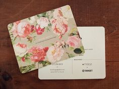 flowers - graphic design - business card