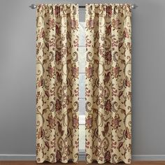 """16. pair. 84"""" Paisley Floral Jacquard Window Curtains, Set of 2 