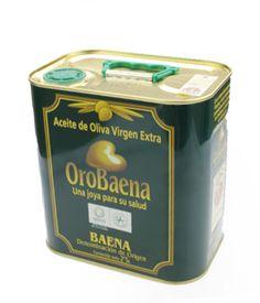 Aceite de Baena, OroBaena, 2 l. Color oro pálido. En nariz es fino, aromático, con marcadas notas herbáceas, de boca untuosa, densa pero suave y equilibrada. Muy baja acidez y agradable sabor a fruto seco. De acreditada tradición olivarera, su importancia como nudo de comunicaciones hizo que la producción aceitera y olivarera de la zona de Baena comenzara en épocas prerromanas. http://www.porprincipio.com/aceites/1-aceite-de-baena.html#
