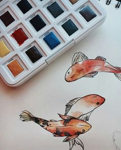 Wonderful Pic ink drawing fish Concepts Learning the best way to draw having tattoo ink very different from mastering compose drawing. Art Inspo, Inspiration Art, Art Sketches, Art Drawings, Fish Drawings, Koi Fish Drawing, Art Du Croquis, Arte Sketchbook, Art Hoe