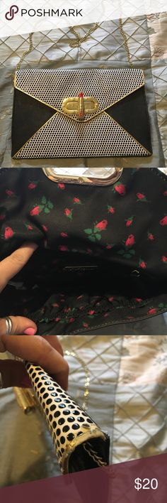 Betsey Johnson lipstick bag Very cute, in used condition , please see pictures, holds the essentials for the night. Betsey Johnson Bags Shoulder Bags