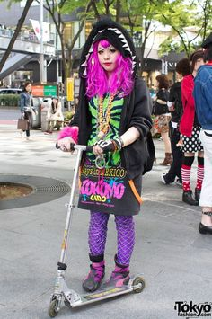 Harajuku Girl on a Scooter - Tokyo