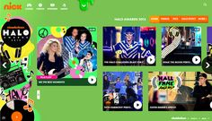 Nickelodeon Halo Awards Branding on Behance
