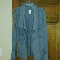 Grey long sleeve knit cardigan Nwt ling sleeve, grey, slub dyed cardigan from maurices. Cotton/polyester. Super cute to throw on with jeans and boots Maurices Sweaters Cardigans