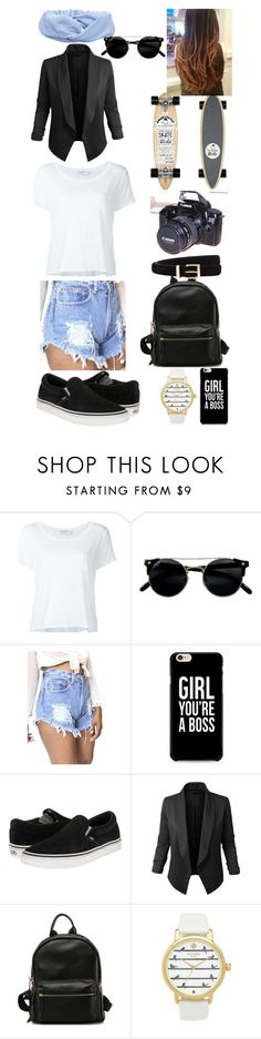 """""""..."""" by filipa-oliveira-lipa ❤ liked on Polyvore featuring Frame Denim, WithChic, Vans, LE3NO, Kate Spade, John Lewis, Eos, Isabel Marant and Ichi"""