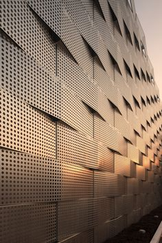 Perforated metal Sheet, aluminum laser cut art panel for facade and architect Project from China Metal Facade, Metal Cladding, Metal Screen, Metal Buildings, Architecture Design, Industrial Architecture, Facade Design, Futuristic Architecture, Ancient Architecture