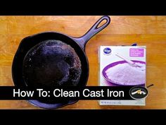 Clean a Cast Iron Skillet with Bamboo Skewers