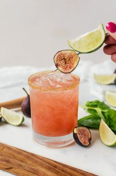 There is nothing like relaxing with a fresh fig margarita
