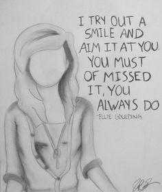 The Writer - Ellie Goulding Song Quotes, Movie Quotes, Music Love, Music Is Life, Best Songs, Awesome Songs, Band Nerd, Music Lyrics, Music Music