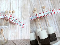 Hot Chocolate on a Stick and FREE printables from @TomKatStudios