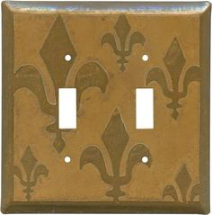 FLEUR DE LIS TARNISHED COPPER Switch Plates, Outlet Covers & Rocker Switchplates