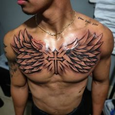 Best Cross Tattoos and Designs for Men and Women . - Tattoos männer - Tattoo Designs For Women Wing Tattoo Men, Cross Tattoo For Men, Cross Tattoo Designs, Tattoo Sleeve Designs, Tattoo Designs For Women, Forearm Tattoo Men, Tattoos For Women, Cross Tattoos, Chest Tattoo Wings