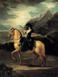 Retrato de María Teresa de Vallabriga a caballo.