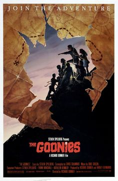The Goonies de 5 Director: Richard Donner Best Movie Posters, Cinema Posters, Movie Poster Art, Blade Runner, Os Goonies, Frank Marshall, Richard Donner, Kathleen Kennedy, 80s Movies