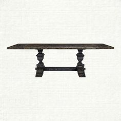 """Arhaus Furniture- extends to 102"""" Wilhelm 72"""" Black Top With Black Base - 30.75"""" H x 39"""" W"""