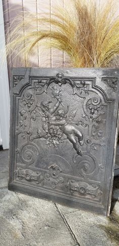 Ornate Victorian Cast Iron Fireplace Summer by VintageWeTreasure