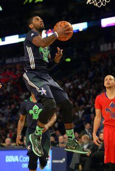 Kyrie Irving wearing Nike Zoom HyperRev All-Star