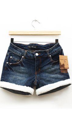 simple vintage white plush jeans