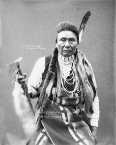 Hin-ma-toe Ya-lut-kiht (aka Thunder Rolling Over The Mountains, aka Chief Joseph, aka Joseph II) the son of Tu-eka-kas (aka Shooting Arrow, aka Joseph I) – Nez Perce – 1901