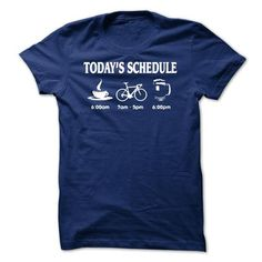 Funny Beer Drinking T-Shirts | Cycling Schedule Coffee  Beer