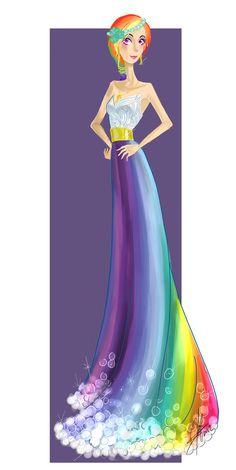 Bridemaid: Rainbow Dash by LadyAmaltea.deviantart.com on @deviantART