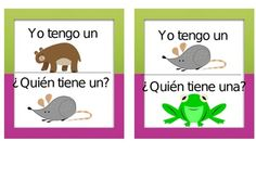 I have who has game in Spanish!  Your students will love practicing animals and colors.This is a fun an easy game. Enjoy!...